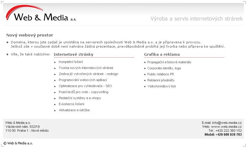 Nov� webov� prostor - Web & Media a.s.